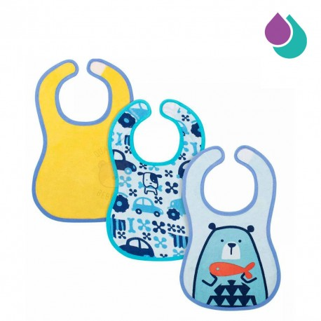 chicco-easy-meal-bib-6-months-3pcs-blue