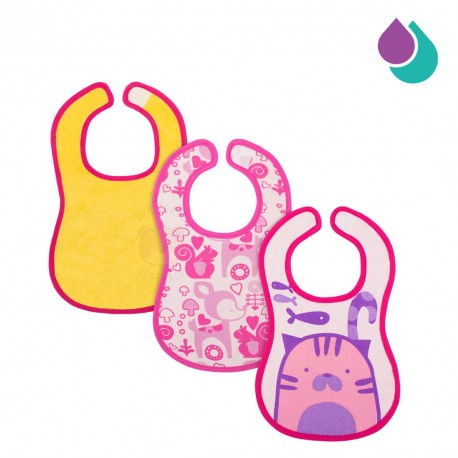 chicco-easy-meal-bib-6-months-3pcs-pink